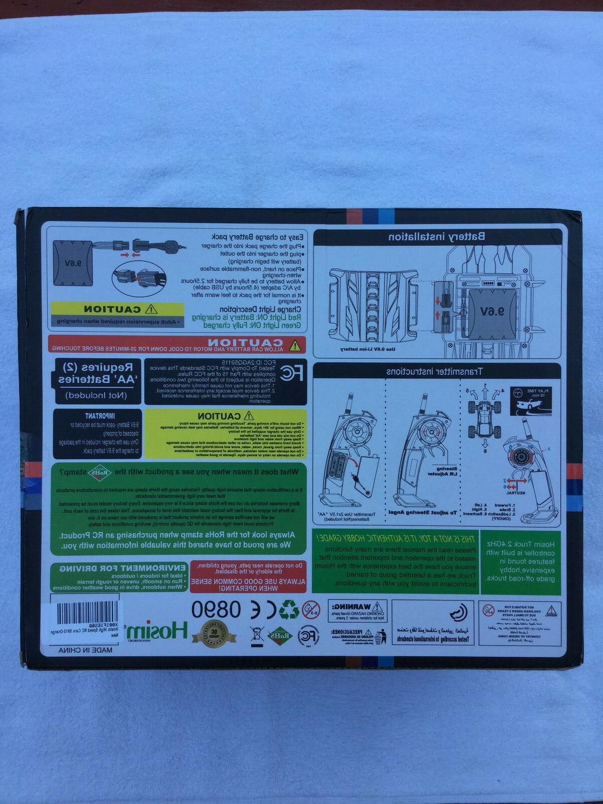 Hosim Monster 1/12 2.4Ghz Off Remote Control Car US