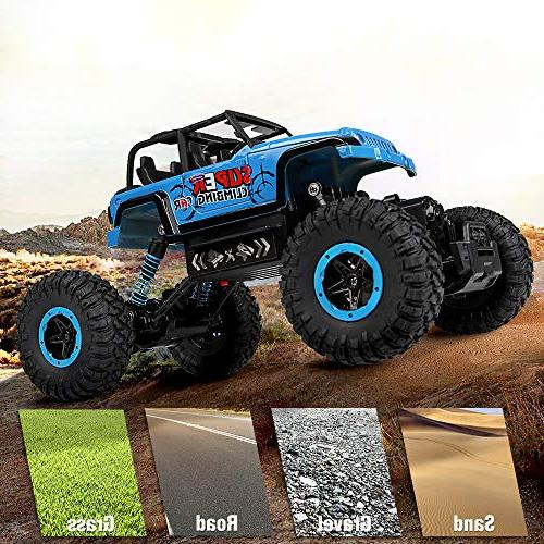 RC Car, 2.4 Trucks 1/18 Scale Control Rechargeable Batteries, Off for Adults & Kids