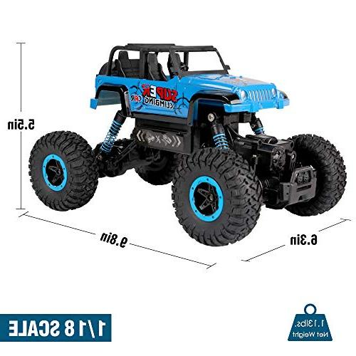 RC Car, SHARKOOL 2.4 Ghz RC Trucks 1/18 Scale Remote Control Car with Rechargeable RC Crawlers Toy for