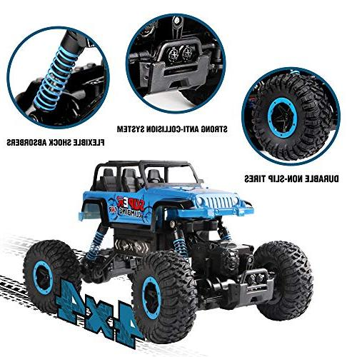RC Car, 2.4 4WD Trucks 1/18 Control with Rechargeable Off Road RC Toy for &