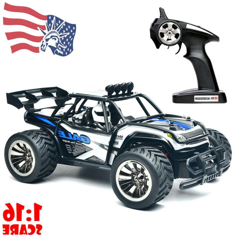 RC Cars 1/16 Scale 2WD Off Road Cars 2.4GHz Radio Truck High