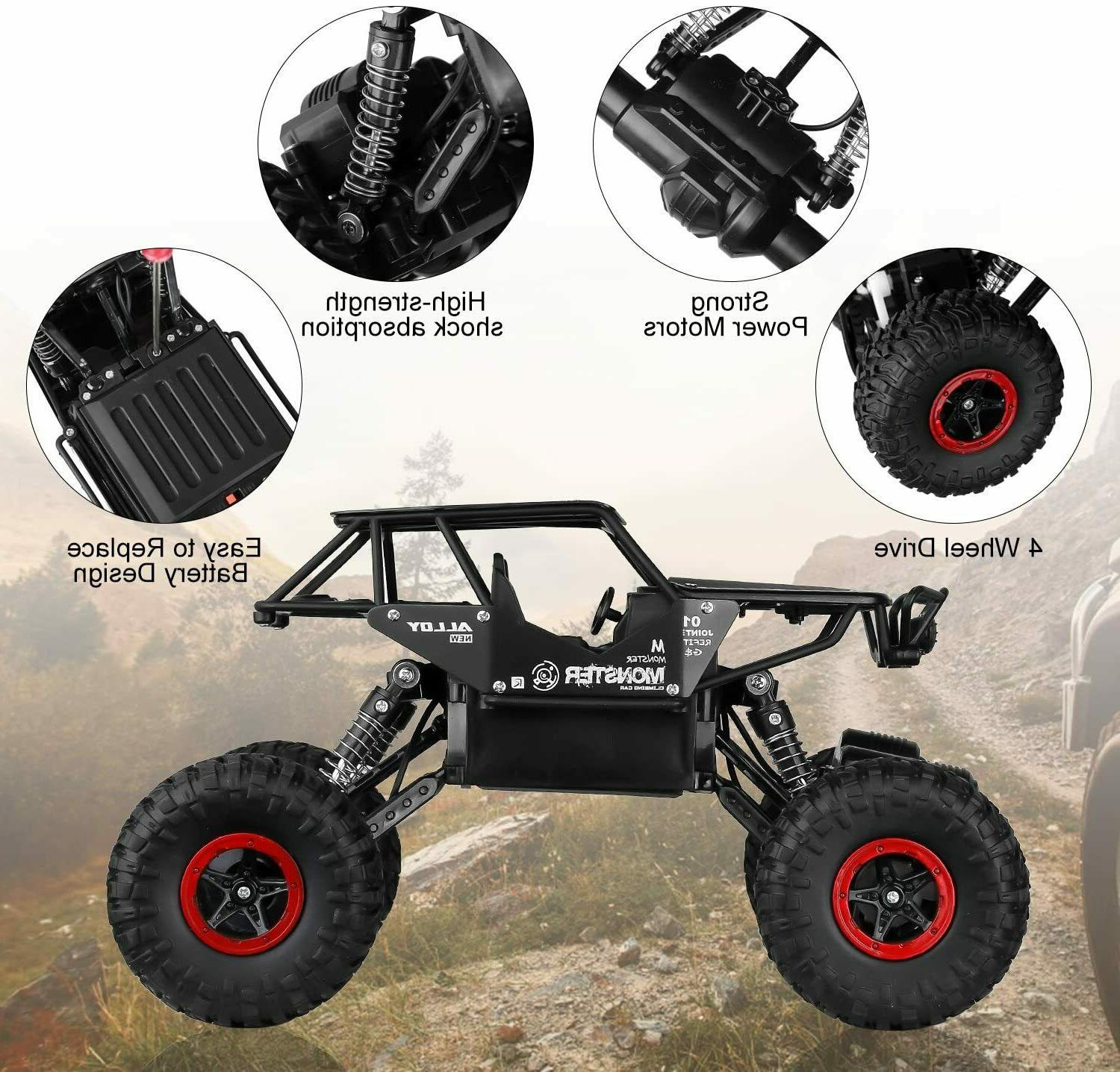 RC Toy Kids, Remote Car, 4WD Rechargable Road Crawler