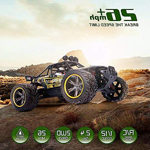 GPTOYS Cars Remote Control Off-Road Monster 1:12
