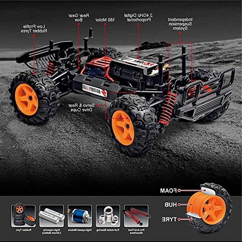 FSTgo RC Off Road Control Monster Truck 1:22 High Speed 2.4GHz RC Truck 4WD