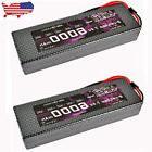 2pcs HRB RC Lipo Battery 7.4V 6000MAH 60C-120C Hard Case For
