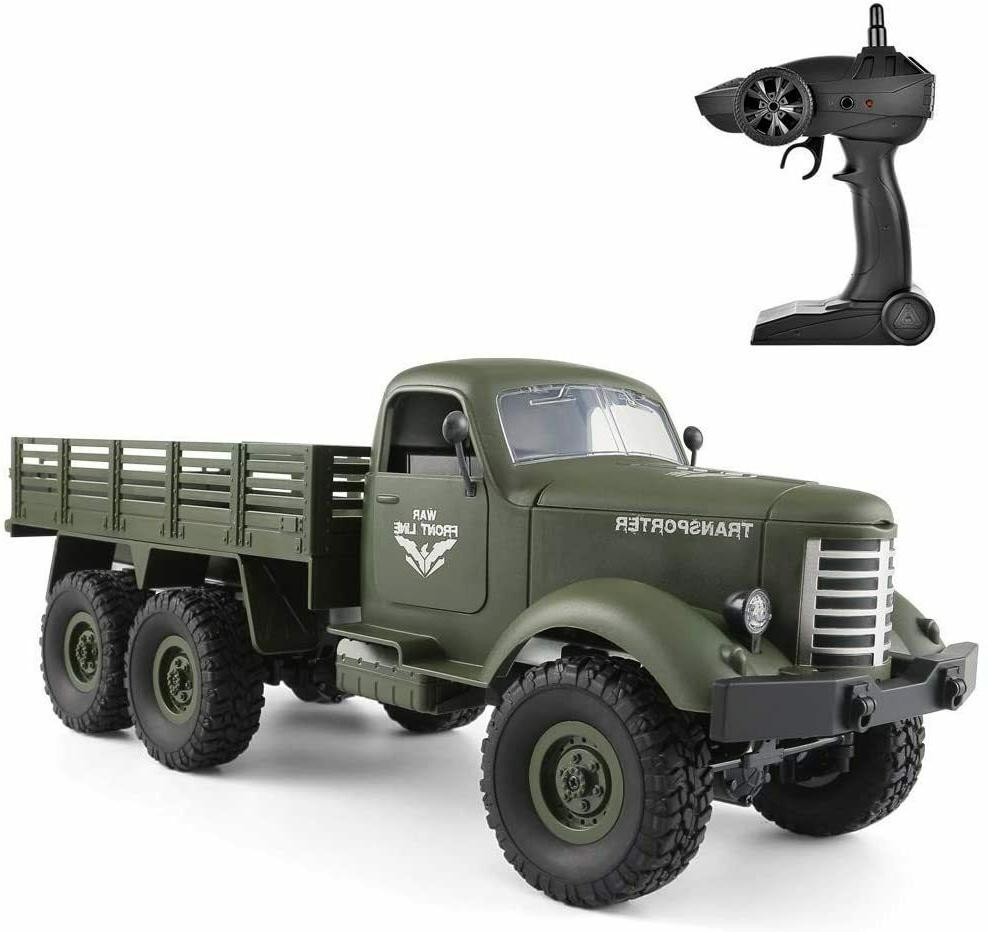 RC Military Truck 1/16 Scale 2.4GHz RC 6WD Military Truck Mo