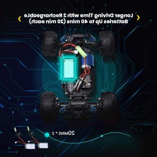 DEERC 1:18 Car Remote Truck 40km/h Speed Racing Vehicle