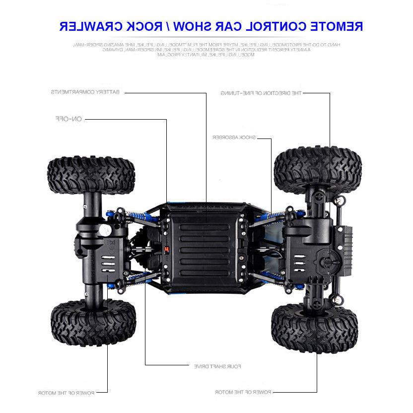 4WD Monster 1/18 Crawler Off-Road Vehicle Remote Car