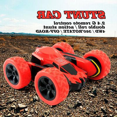 RC Car Remote Control Stunt 4WD Rock Crawler Double Rotating