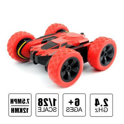 2.4G Remote Control Double Sided Vehicles Boys RC Stunt Car