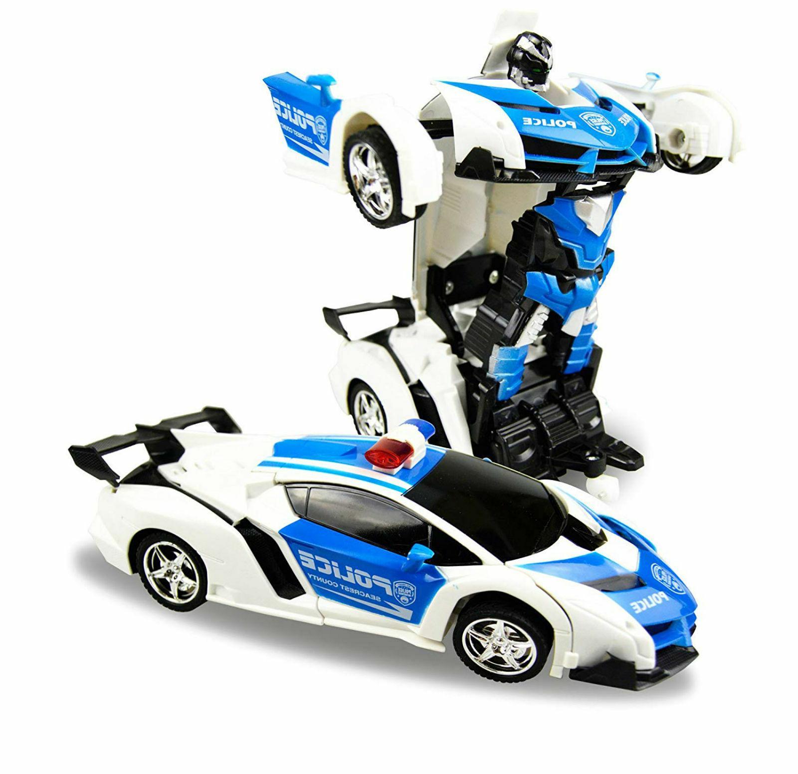 RC Transform Car Robot Toy Kids Vehicle Remote Control Fun P