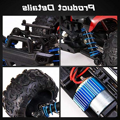 Distianert RC Truck Scale Flexible 4WD Car for Adults, 2.4Ghz Radio Off-Road Electronic R/C Hobby 45km/H High Speed