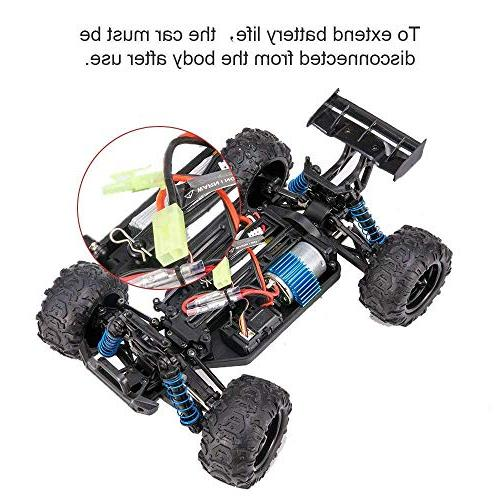 Distianert Scale Flexible RC Car Adults, Radio Off-Road Electronic Truck R/C Hobby 45km/H High