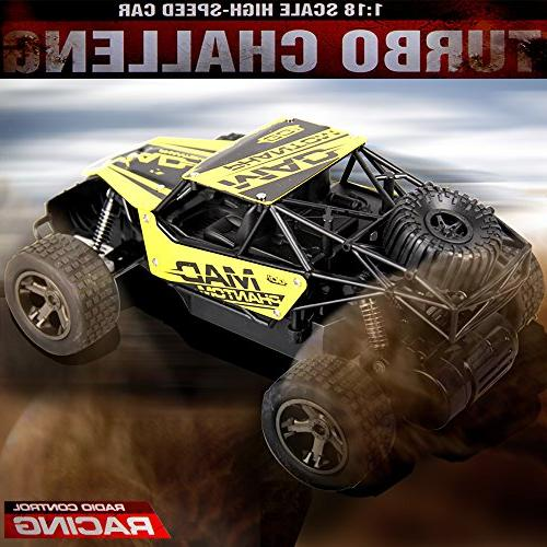 Rc Car,GMAXT For 1:18 Radio Challenge and Rechargeable Batterie
