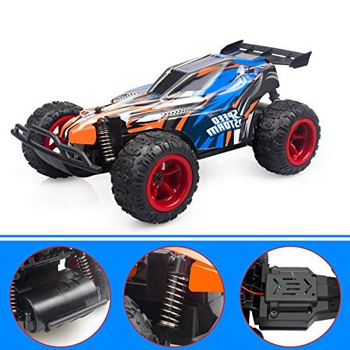 IMDEN Car, 1: 22 High Speed Car with Four Kids Toys, Blue