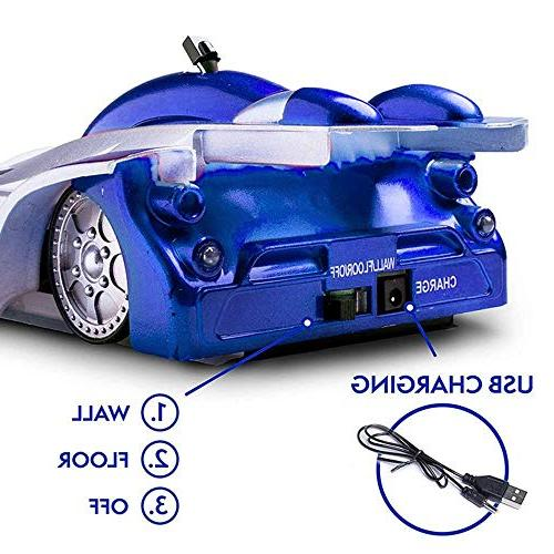 Remote Car Toy Drive Stunt Zero RC Cars Toys, Head Rechargeable Gravity Defying for Kid