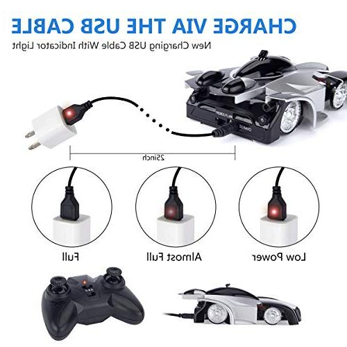 Remote Control - Sugoiti Rechargeable Climb with Control, Dual Degree Stunt Racing Vehicle LED Head Car Kids