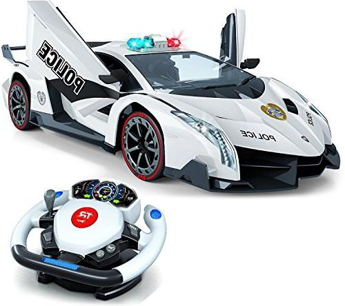 Tr Remote Control Police Car, 4D Motion Gravity Steering Whe