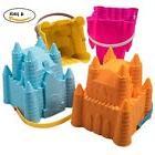 Sand Castle Buckets Beach Pails Mold Summer Toy Boys Girls P