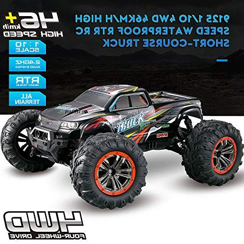 Hosim Large Size Scale High Speed 46km/h 4WD 2.4Ghz Control Truck 9125,Radio RC Electronic Truck Grade Cross-country