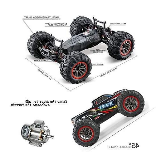 Hosim Size Scale High 4WD Remote Truck 9125,Radio Controlled RC Electronic Truck R/C Grade Cross-country