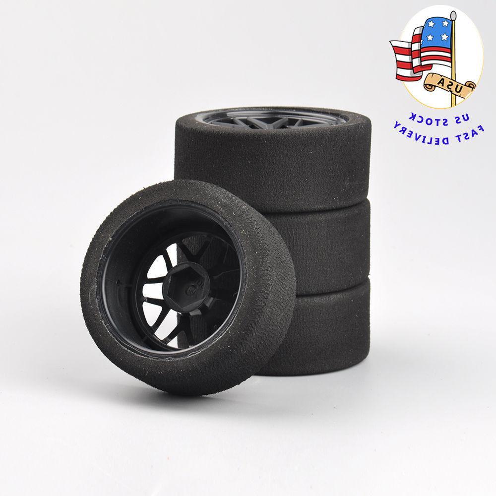 RC 4Pcs Foam Tires Wheel Rims 12mm Hex For HSP HPI 1:10 On-R