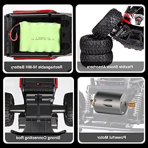 RC 2.4 Remote Scale RC Trucks Batteries, for All Adults Kids