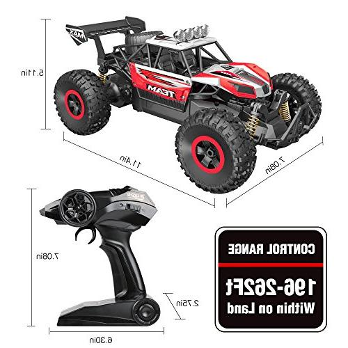 RC Newest 2.4 Remote Control Scale Off Trucks with Batteries, Racing Toy for All Adults Kids