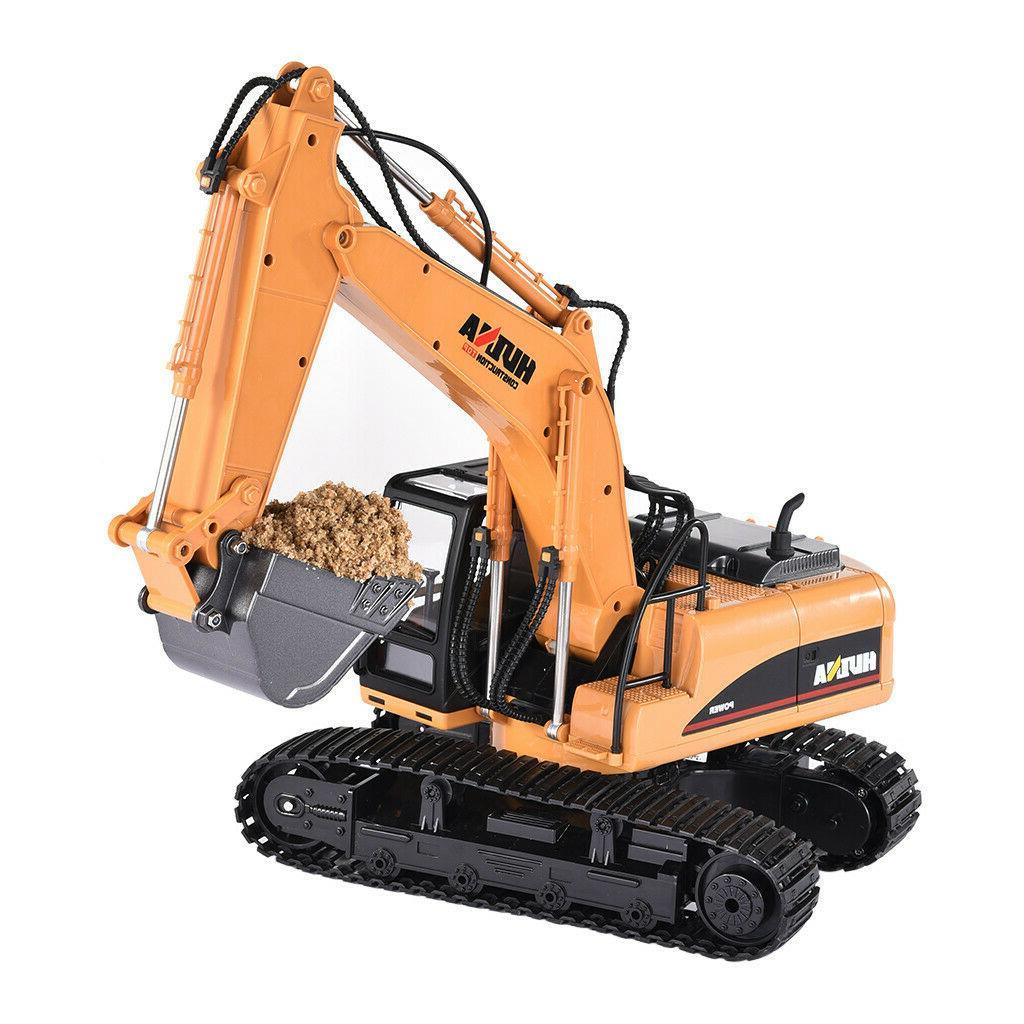 2.4G 15CH Alloy Excavator Engineering US