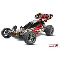 Traxxas Tra24076-3-Red Bandit Vxl 1/10 Scale Buggy Red Rtr,