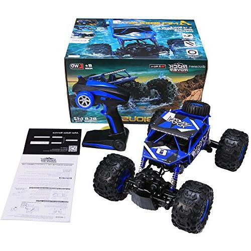 Distianert Scale Truck Electric Amphibious RC Car, Off-/On- All