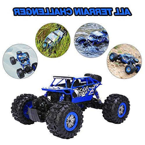 Distianert 1/12 Scale Truck 4WD RC Car, 2.4GHz 18km/h Off-/On- Road All