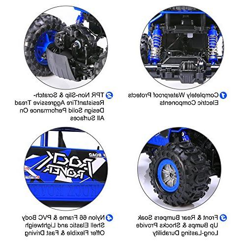 Distianert Truck 4WD Electric Amphibious RC Car, High Speed Off-/On- Buggy All Terrain