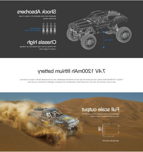 Wltoys 1/10 2.4GHz 4WD Waterproof Racing RC Car Off-Road Rock Electric
