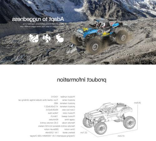 Wltoys 2.4GHz Waterproof RC Car Off-Road Electric