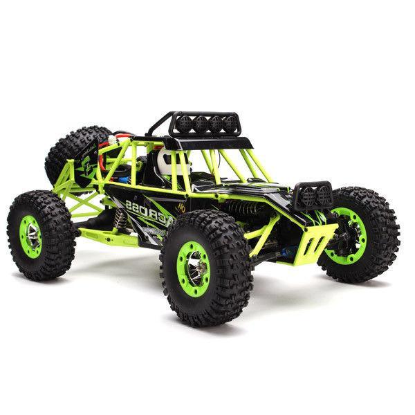WLtoys 12428 2.4G 1/12 4WD Crawler RC Car With LED Light New