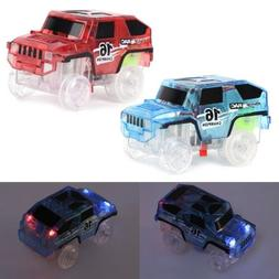 LED Car Toy for DIY Miraculous Magical Track Glowing In Dark