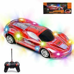 Haktoys Light Up RC Car with Spectacular Flashing Lights  fo