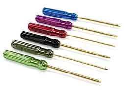 Integy Lightweight Ti-Nitride Hex Allen Wrench Tool Set - Tr
