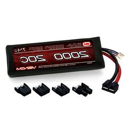 20C 7.4V 2000mAh 2S LiPo Battery: 1/16