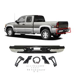 MBI AUTO - NEW Complete Chrome Rear Step Bumper Assembly For
