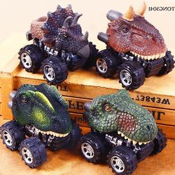 Mini Dinosaur Shape Car Model Toys Pull Back Vehicle Toy Gif