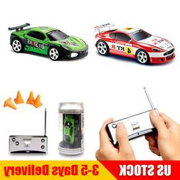 Mini RC Racing Car 1:58 Coke Can 2PCS Random Color 4CH Remot