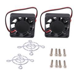 Motor Cooling Fan Heat Sink Heatsink JST Plug for 1/8 RC Car