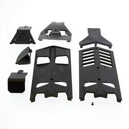 Arrma Nero BLX 1/8: Front/Rear/Center Skidplates, High Airfl