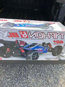 NEW ARRMA 1/8 TYPHON 6S BLX Brushless 4WD RTR Blue/Silver 60