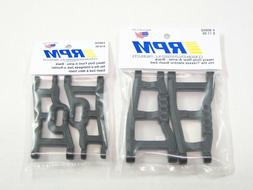 NEW RPM ARMS Front & Rear Set BLACK 81422 81112 ASSOCIATED B