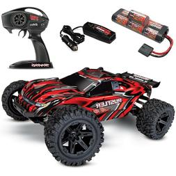 NEW Traxxas Rustler 4x4 Brushed RTR RC Truck w/Battery & Qui