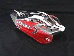 New Arrma Typhon 4x4 3s BLX Red White Black Painted Body She