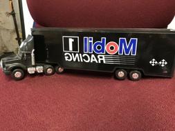 NIB Mobil 1 Racing Toy Race Car Carrier Truck #2 in Series 1